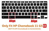 """CaseBuy Ultra Thin Keyboard Cover for 11.6"""" HP Chromebook 11 G5 EE Laptop(NOT Fit HP Chromebook 11 G2 / G3 / G4 / G5), Black"""
