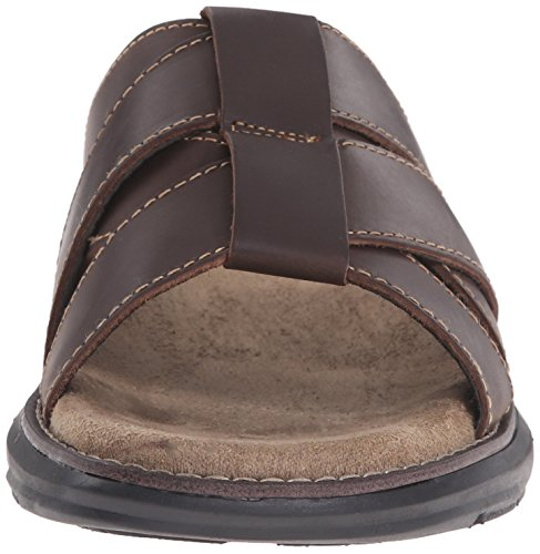 Dr. Scholls Mens Sellman Glid Sandal Brun Derby Läder