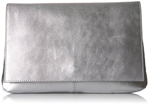 The Slouchy Fix Silver Peyton Metallic Oversized Clutch wwfp6