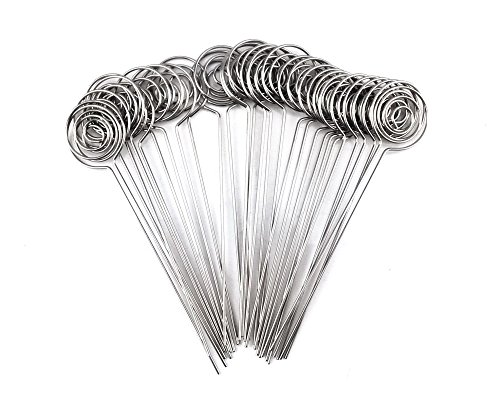 - Honbay 30pcs DIY Round Shape Ring Loop Craft Wire Clip Table Card Note Photo Memo Holder Metal Clamp Clay Cake Decoration Accessories