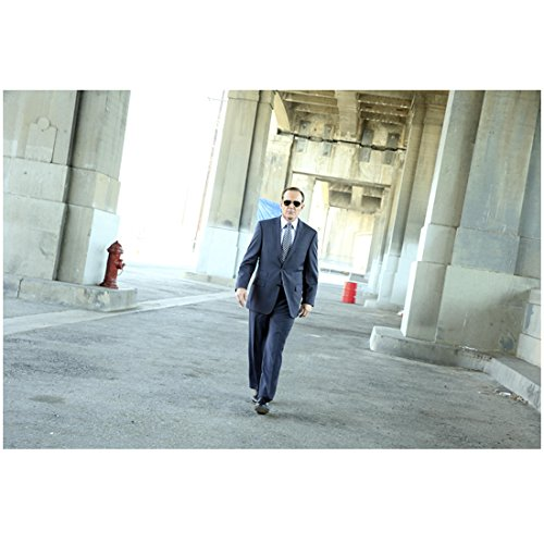 Agents of- S.H.I.E.L.D. (8 inch by 10 inch) PHOTOGRAPH Clark Gregg Full Body Walking Sunglasses Fire Hydrant in Background - Agent Sunglasses L