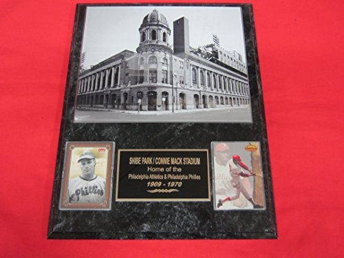 Philadelphia Phillies Connie Mack Stadium - J & C Baseball Clubhouse Phillies Shibe Park Connie Mack Stadium 2 Card Collector Plaque #1 w/8x10 Photo