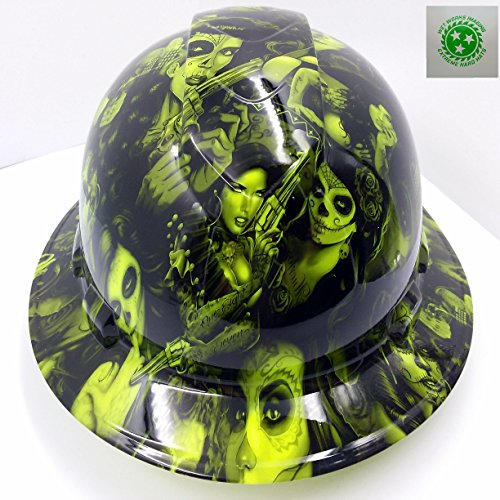 Wet Works Imaging Customized Pyramex Full BRIM NEW GREEN TATTOO BABES HARD HAT With Ratcheting Suspension by Wet Works Imaging (Image #6)