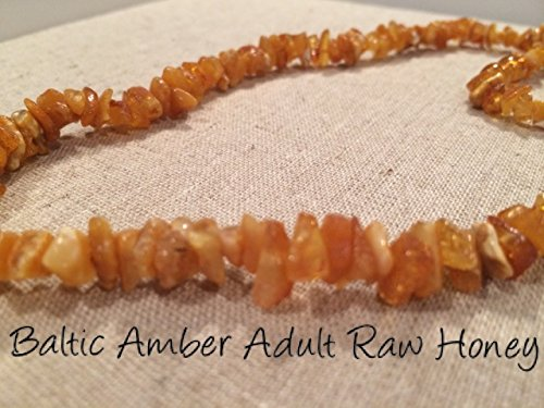 (Baltic Amber Necklace 17 Inch for Adults Big Kids Child Raw Sea Polished Honey Lemon Brown Yellow UnKnotted individual Boy Girl Unisex Man Woman Certified Authentic. Anti-inflammatory, Reduction in Inflamation Symptoms Such As Carpal Tunnel, Back Aches, Head Aches, Tooth Aches, Sciatica, Fever, General Aches and Pains. Highest Quality (Raw Honey))