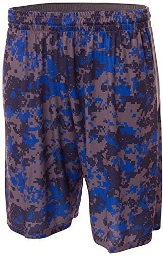 A4 Adult 10 Printed Camo Performance Short