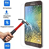 Samsung Galaxy E5 - Tempered Glass Screen Protector with [2.5D Round Edge] [9H Hardness] [Crystal Clear] [Scratch-Resistant] [No-Bubble]