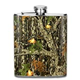 Hunting Camo 7 Oz Printed Stainless Steel Hip Flask for Drinking Liquor E.g