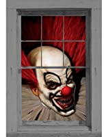 WOWindow Posters Slammy the Scary Clown Halloween Window Decoration 34.5x60 backlit poster