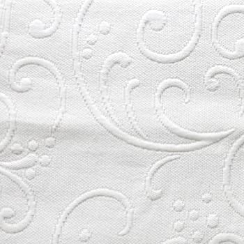 Braga Matelasse Coverlet, Full/Queen, White