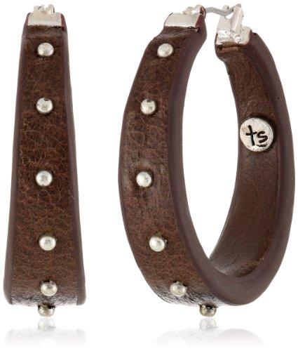 UPC 024576994778, The SAK Medium Stud Click Walnut Hoop Earrings