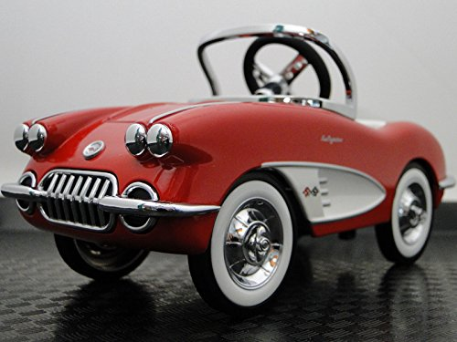High End Collector Pedal Car Vintage 1950s Chevrolet Corvette Chevy Vette Antique Hot Rod Race Sport Rare Sportscar Model Classic Museum Quality Metal Body Collectible Not A Toy For A (1950s Chevy Cars)