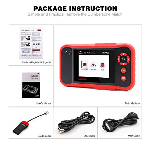 LAUNCH CRP123 OBD2 CReader ABS SRS Transmission Engine Code Reader Diagnostic Scanner by LAUNCH (Image #6)