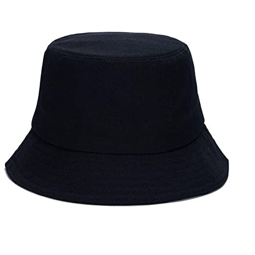 255b4ad379118d Kimfit Men's Solid Short Brim Casual Bucket Hats (Adjustable, Black ...