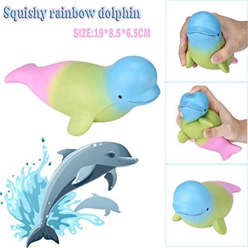 Rosiest Low Price Kawaii Cut Big Dolphin Squishy Scented Squishy Slow Rising Squeeze Toy Jumbo Collection Reliever Anxiety Toys For Children Adults Slow Rising (Cut Dolphin Charm)
