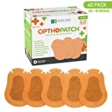 Kids Eye Patches - Beige 30 + 10 Bonus Latex Free Hypoallergenic Cotton Adhesive Bandages For Amblyopia and Cross Eye - Optho-Patch by Defined Vision