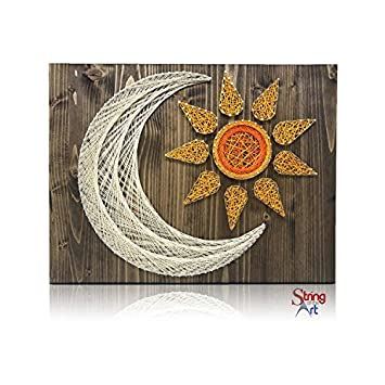 amazon diy string art kit sun and moon string art kit sun and