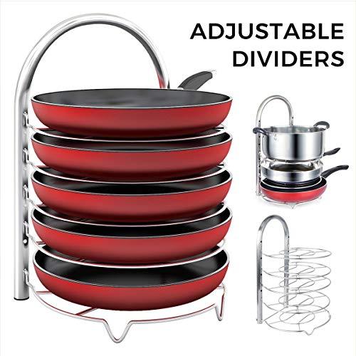 Lifewit Adjustable Pan Pot Organizer Rack for Only $16.99