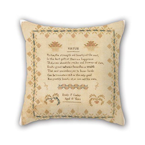 Rdkekxoel Oil Painting Emily F. Cooley - Sampler Pillow Shams Best for Kids Sofa Adults Christmas Kids Room Car Seat 18 X 18 Inches