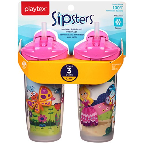Playtex Playtime Insulator Straw Cup, 9 oz, 2 ct