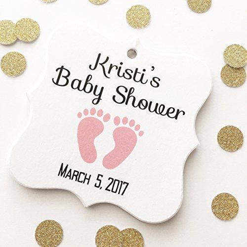 Mint 393 (Baby Feet Shower Favor Hang Tags (FS-393))