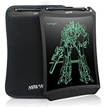 NEWYES 8.5 Inches LCD Writing Tablet NYWT085D - Robot Pad Kids Drawing Board Doodle Pads Electronic Graphic Drawing Tablet with Case (Black+case)