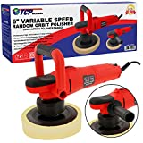 TCP Global 6'' Variable Speed Random Orbit Dual-Action Polisher; Professional High Performance