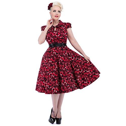 H&R London Vintage Kleid - Red Rose Tea
