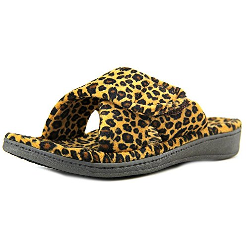Dark Size Women's Relax Leopard Slipper Zebra Tan 5 Grey Orthaheel t74Xq4