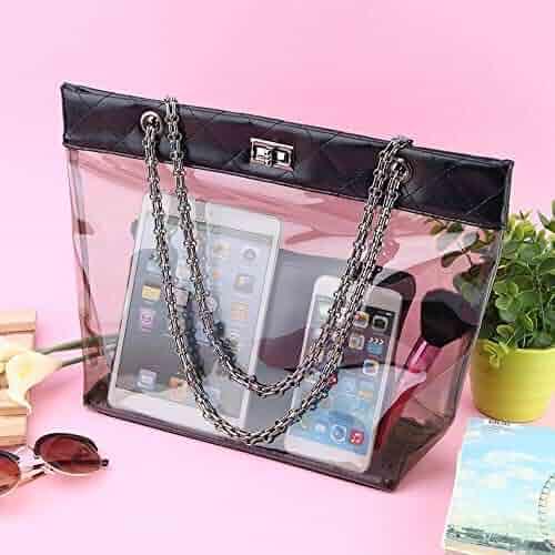 ff36d8912c7b Shopping Faux Leather - Clear - Shoulder Bags - Handbags & Wallets ...