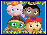 """Super Why 1/4 Sheet Personalized Edible Cake Topper Image - 8"""" x 10.5"""""""