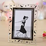 3.5x5'' Desk Bevelled Glass Mirror Picture Photo Frame with Decorative Star&Moon (MGPF002)