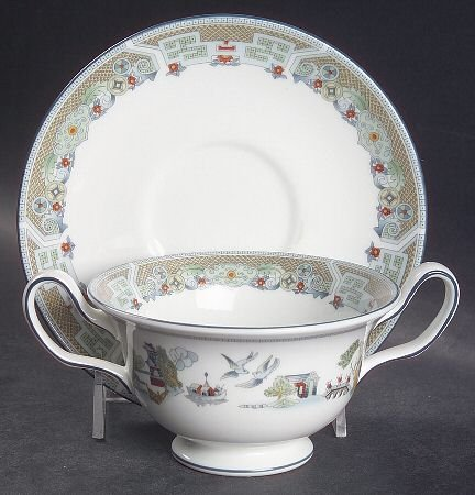 WEDGWOOD CHINESE LEGEND BREAKFAST CUP u0026 SAUCER - UK MADE -NEW RETIRED u0026 RARE : wedgwood tableware uk - pezcame.com