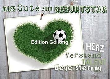Postkarte Fussball Alles Gute Zum Geburtstag Efffektlack Amazon
