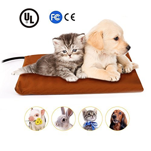 Eletek Pet Heating Pad For Cats Dogs, Safety Adjustable Temperature Chew Resistant Cord Overheat Protection Heat Mat with 2 Replace Fleece Covers 15 Watts Size 15.7″ x 11.8″ Review