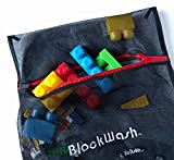 Blockwash Clean and Sanitize Lego, Duplo Mega Bloks or Any Plastic Toys (2 Pack) for Healthy Kids Wash Used Legos and Dirty Blocks, Health Board Approved for Daycare Cleaning Supplies
