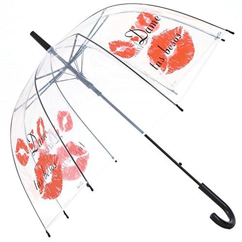 Dome Bubble Umbrella - HAOCOO Lip Clear Umbrella,Bubble Transparent Fashion Dome Auto Open Umbrella Windproof for Outdoor Weddings or Events(n)