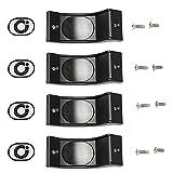 Coastal Shower Doors PP501 Challenger Series Replacement Nylon Towel Bar Bracket, Black