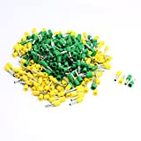 Aexit 14 AWG Audio & Video Accessories Cable E2508 Yellow Green Pre Insulate Ferrules Connectors & Adapters Terminals 380Pcs