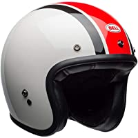 Capacete Bell Helmets Custom 500 Ace Café Stadium Branco Preto Vermelho 62