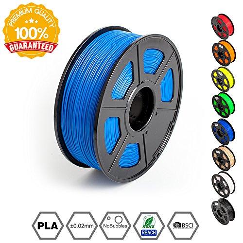 2.2 LBS Blue PLA+ /… SUNLU 3D Printer Filament PLA Plus 3D Printing Filament Low Odor Spool 3D Filament 1.75mm PLA Filament Dimensional Accuracy +//- 0.02 mm 1KG