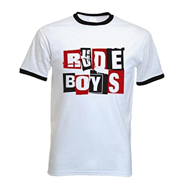 7f8a69d6 Amazon.com: Tribal T-Shirts Men's Rude Boy Ska Ringer T-Shirt: Clothing