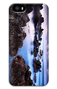 iPhone 5S Customized Unique Print Design Jagged Rocks iPhone 5 5S Cases 3D