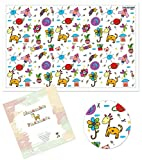 Disposable Placemats For Children Baby Toddlers Kids by Palluat | Extra Sticky Strips, Table Top, Restaurants | Enjoy Meals, No Cleaning - Ecofriendly 18''x12'' - 60 Count Individually Folded