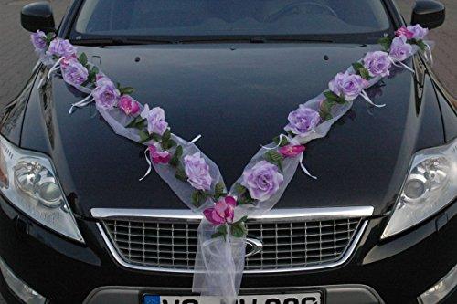 Reviewmeta Com Rosen Girlande Autoschmuck Braut Paar Rose Deko