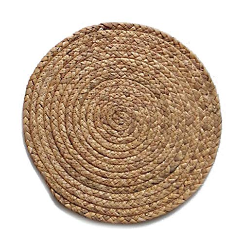Blueyouth Kitchen Table Mat Round Placemat Drink Coasters Natural Straw Placemats Cup Coaster Kitchen Accessories Decoration Home (Difference Furniture Between Wicker And Rattan)