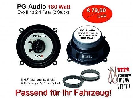 Lautsprecher-Set T/ür Vorne und Hinten PG Audio 13 cm Coax 2-Wege-Koax Renault Megane 3
