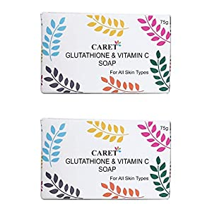 Caret Organic Glutathione & Vitamin C Skin Whitening Soap For Dark Spot and Dead Skin Cell Removal, Tested Paraben Free…