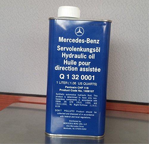 Mercedes-Benz Power Steering Fluid 345.0 Genuine OE 0012403 (1 Liter) by MERCEDES-BENZ GENUINE ORIGINAL