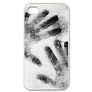 Hard Shell Case Of Handprint Customized Bumper Plastic case For Iphone 4/4s