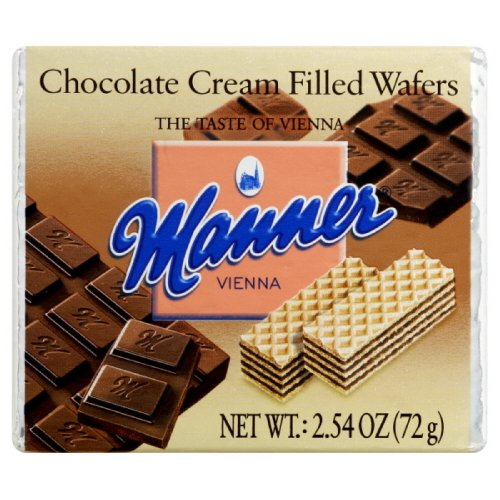 Manner Wafers Chocolate Pocket Pack, 2.54-Ounce (Pack of 12) by Manner